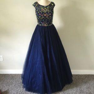 Sherri Hill Royal Blue Ball Gown